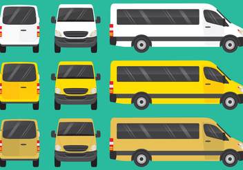 Mini Buses - vector #345769 gratis