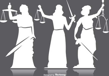 Lady justice silhouettes - Free vector #346109