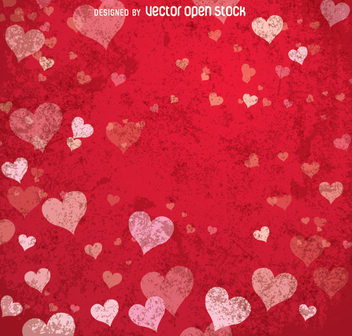 Happy Valentine's red background - vector gratuit(e) #346149