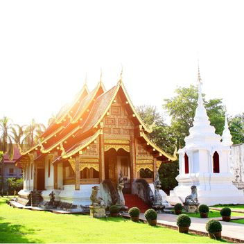 Wat Phra Singh Temple in Chiangmai, Thailand - Kostenloses image #346239