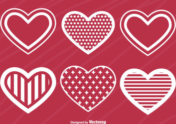 Heart Silhouettes - Free vector #346449