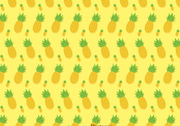 Pineapple Ananas Vector Pattern - Free vector #346709