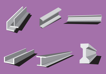 Industrial Steel Beam Vectors - vector #347079 gratis
