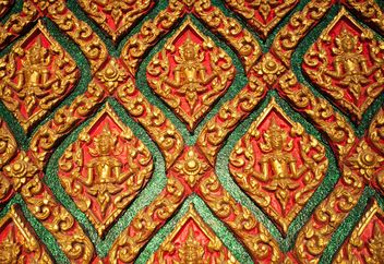 Art pattern stucco gold red temple wall - image gratuit(e) #347289