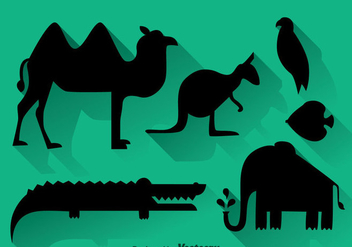 Animal Black Silhouette - Kostenloses vector #347359
