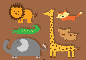 Animal Cartoon Sets - Kostenloses vector #347389