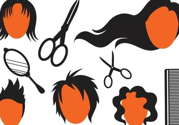 Free Hairstyle Vectors 2 - vector #347559 gratis