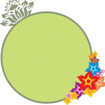 Green Circle Floral Banner - vector #347849 gratis