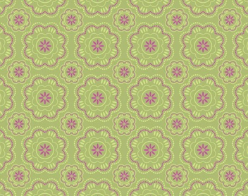 Abstract Seamless Retro Floral Pattern - Free vector #347879