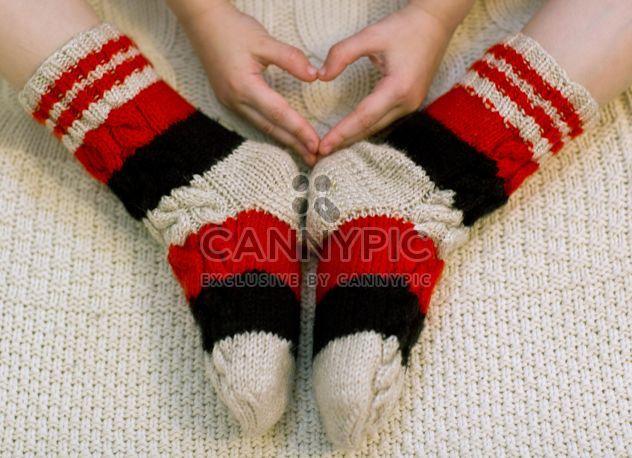 Os pés com meias de malha quentes - Free image #347969