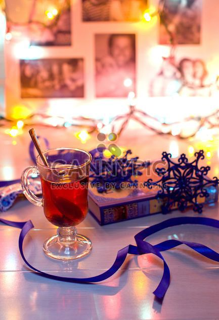 Hot tea and Christmas decorations - Free image #347989