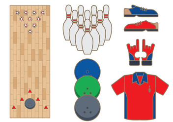 Bowling Alley Vector - бесплатный vector #348059
