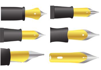 Pen Nib Vectors - Free vector #348089