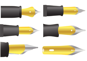 Pen Nib Vectors - Kostenloses vector #348089