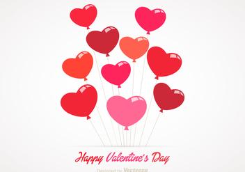 Free Heart Balloons Vector - Free vector #348139
