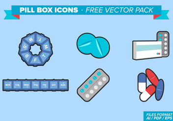 Pill Box Icons Free Vector Pack - Kostenloses vector #348229