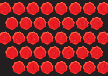 Stempel Wax Alphabet Vectors - Free vector #348239