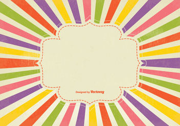 Colorful Retro Sunburst Background - vector gratuit #348309
