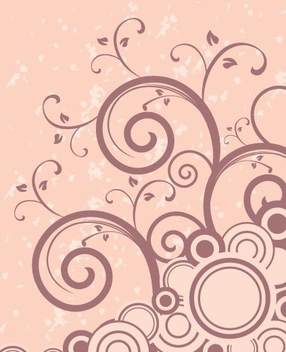 Swirls Circles Pink Background - vector gratuit #348529