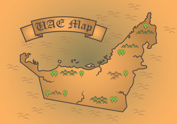 UAE Fairy World Map - vector #348719 gratis