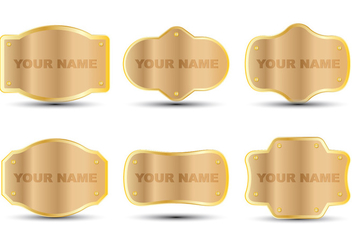 Wood Name Plate - Free vector #348789
