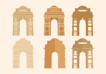 India Gate Vector - vector gratuit #348819