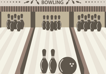 Bowling Alley Vector - бесплатный vector #348849