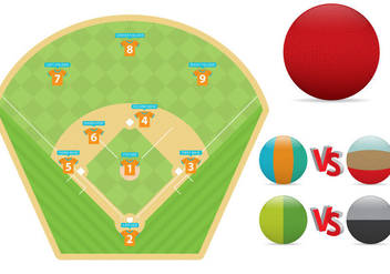Kickball Field And Balls - Free vector #348989