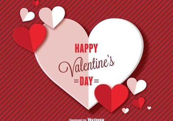Happy Valentines Day Background - vector gratuit #349079