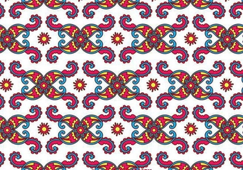 Colorful Paisley Background - Kostenloses vector #349209