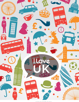 I love Uk composition - vector gratuit #349229
