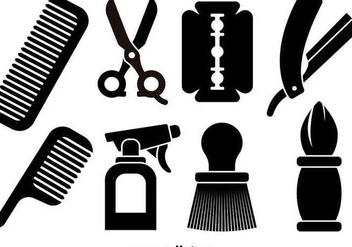 Barber tools icons - Free vector #349279