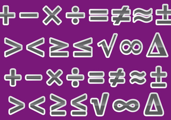 Vector Math Symbols - vector gratuit(e) #349329