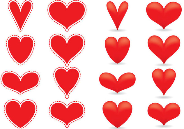 Red Heart Vectors - vector #349339 gratis