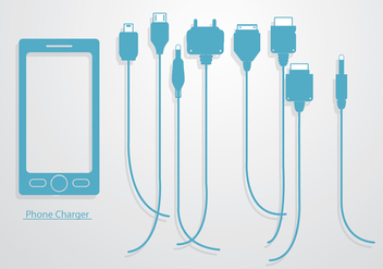 Phone Charger Vector - Free vector #349579