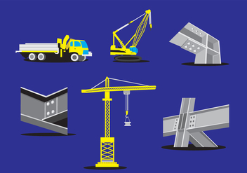 Steel Beam Construction Vector - Free vector #349619