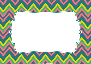 Colorful Chevron Pattern Background Vector - vector #349699 gratis