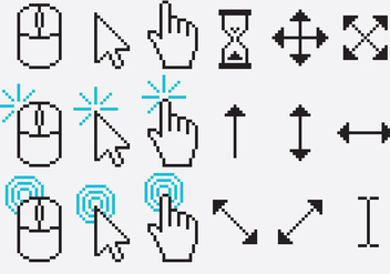 Pixel Cursor Vectors - Free vector #349969