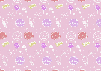 Free Pink Cake Vector Pattern - Free vector #349989