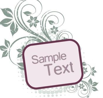 Floral Grunge Square Frame - Free vector #350169