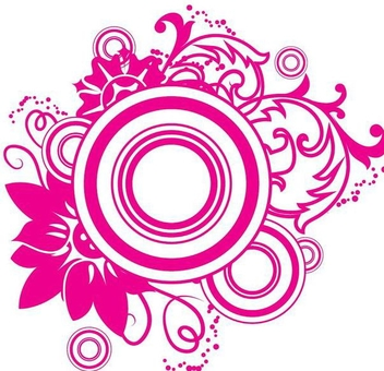 Swirls Circles Magenta Ornament - Free vector #350179