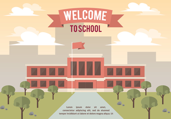 Free School Landscape Vector Background - Free vector #350369