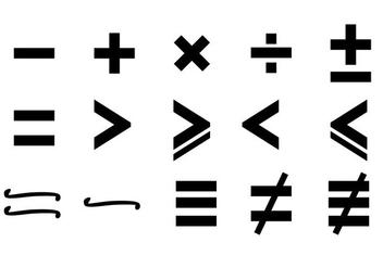 Math Symbols Vector - Free vector #350399