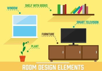 Free Vector Room Illustration - vector gratuit #350419