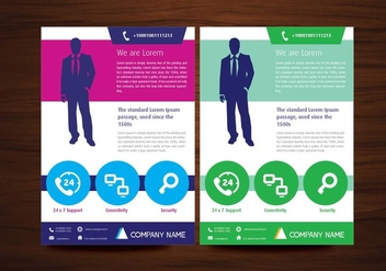 Vector Brochure Flyer Design Layout Template in A4 size - vector #350459 gratis