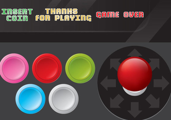 Arcade Game Control Vectors - Kostenloses vector #350469