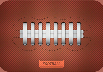 Free American Football Ball Vector - vector gratuit #350509