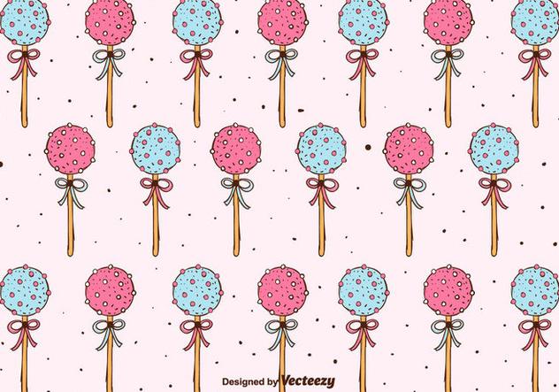 Cake Pops Pattern Background - бесплатный vector #350609