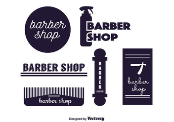 Barber Labels Vector - Free vector #350699