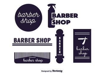 Barber Labels Vector - Kostenloses vector #350699